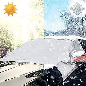 iZoeL Parabrisas sun protect nieve protector solar parabrisas cubierta parasol para el coche auto universal medio