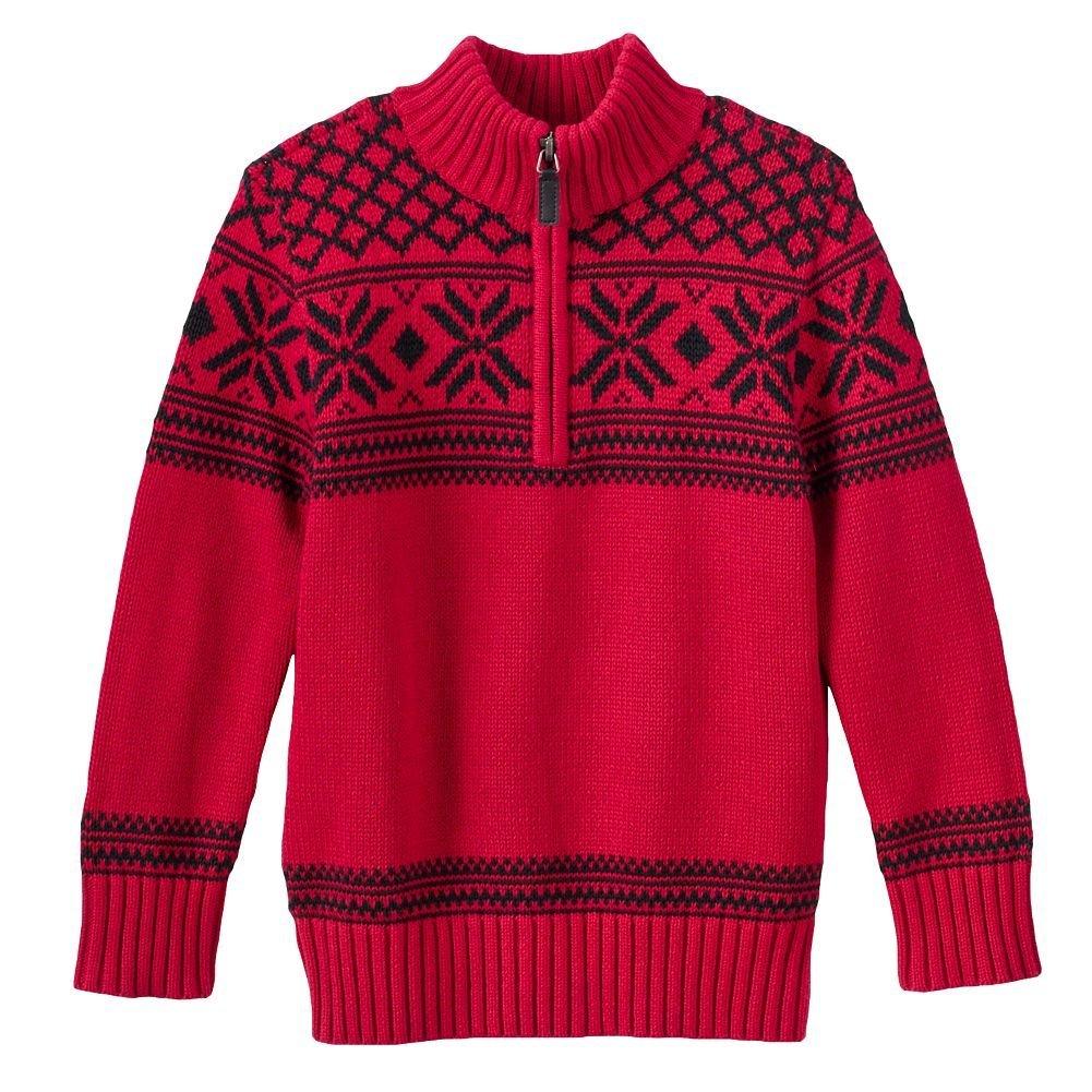 6d3475d2a Amazon.com  Chaps Quarter-Zip Pullover Sweater Boys 4-8 (6