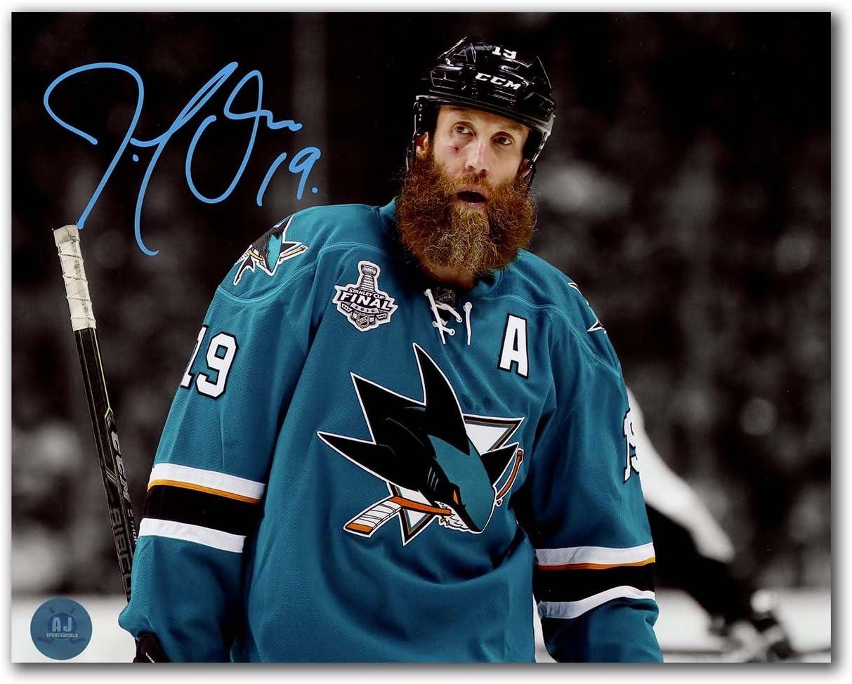 Joe Thornton San Jose Sharks Autographed 2016 Cup Finals Close-Up 8x10 Photo
