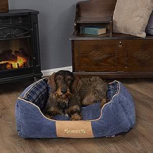 Scruffs Dog Highland Box Bed, Medium, Blue