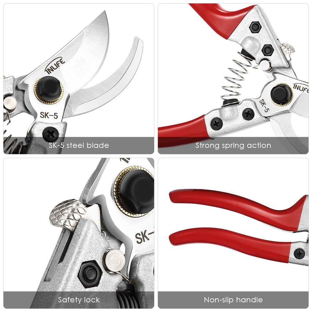 Garden Pruning Shears Grafting Tools Professional Safe To Use (Single) by DAMAIFENG (Image #4)