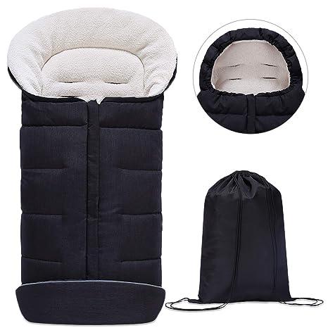 Minetom Saco de Invierno Universal para Cochecito Saco de Dormir para Bebé Saco para Pies de
