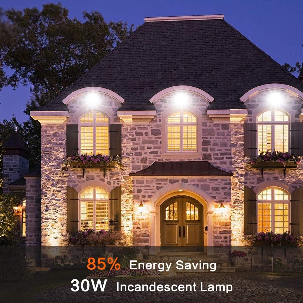 Super lumineux /Éclairage ext/érieur C/âble /étanche IP66 2700 lm lumi/ère du jour 6000 K blanc froid Projecteur LED de 30 W avec d/étecteur de mouvement