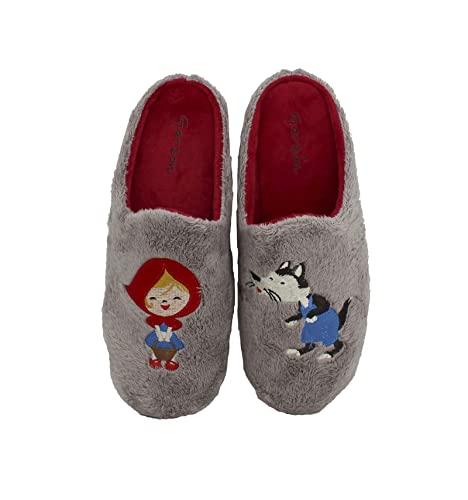 Garzón - Zapatillas de Casa para niña Caperucita - Rosa, 30: Amazon.es: Zapatos y complementos