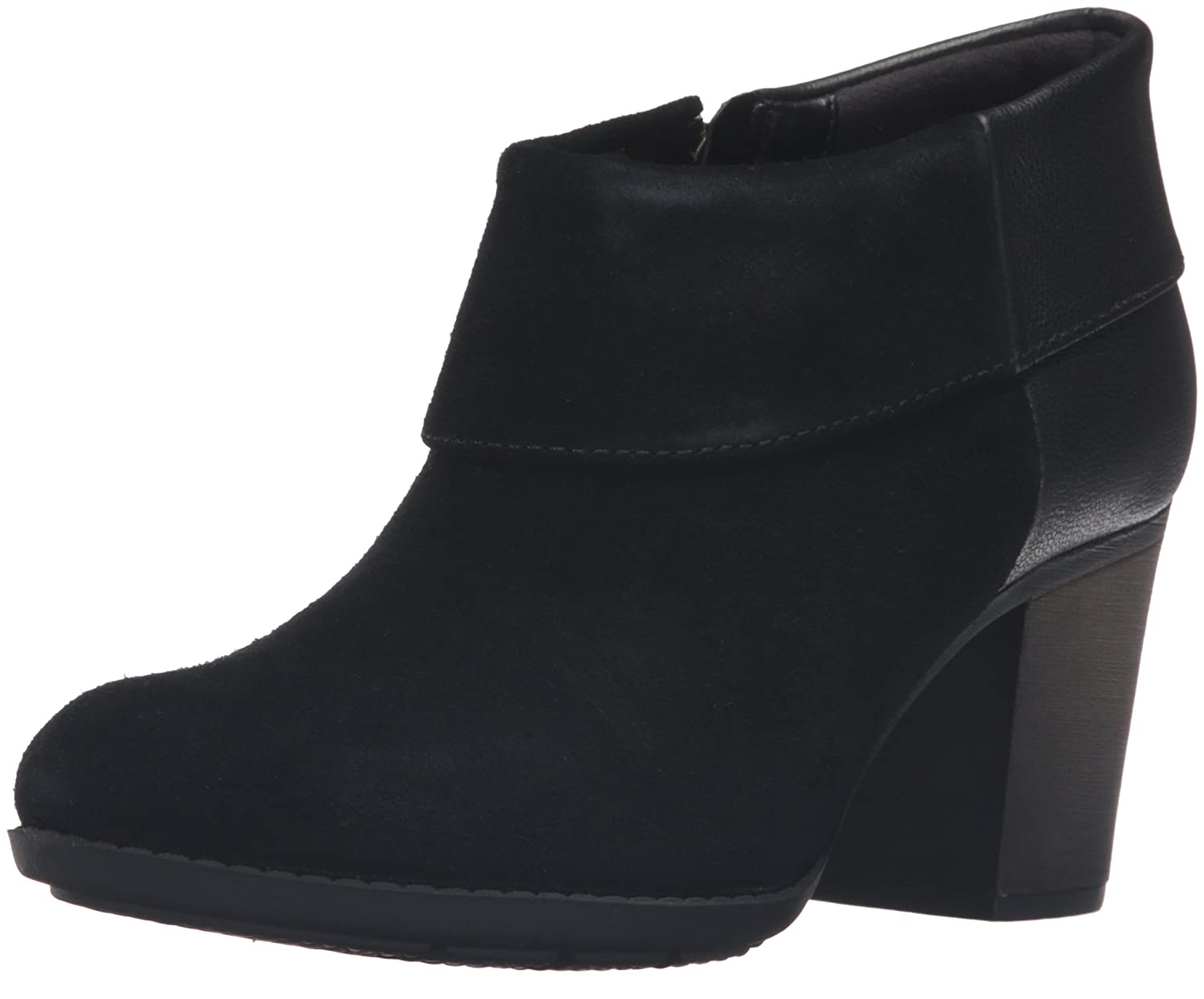 CLARKS Women's Enfield Canal Boot B0198WCW74 11 B(M) US|Black Suede
