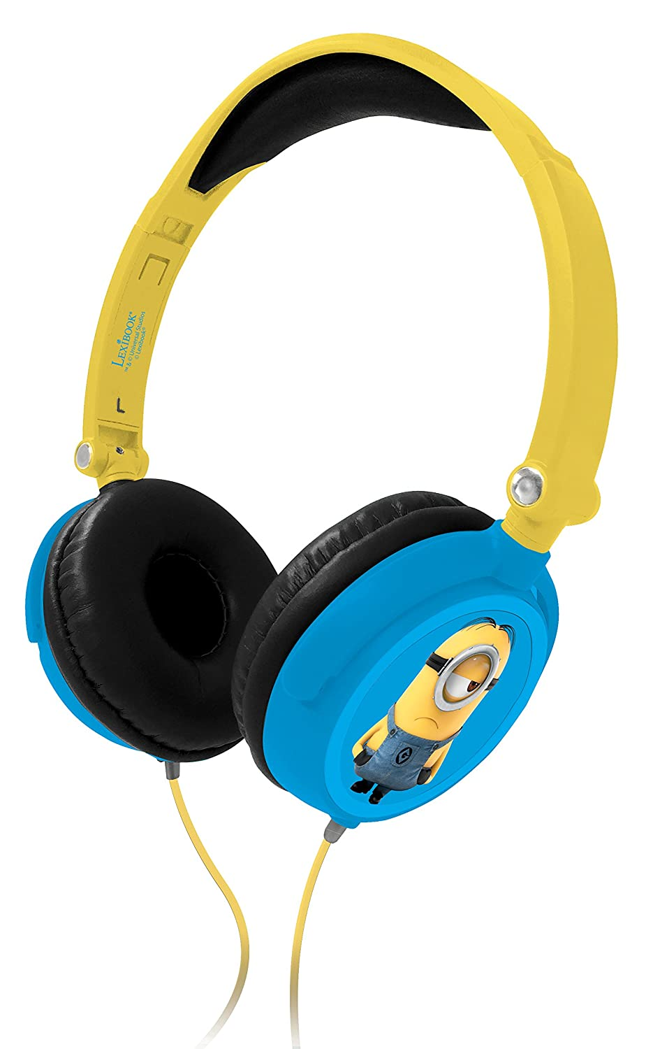 LEXIBOOK Universal Despicable Me 3 Minions Stereo Headphone, kids safe, foldable and adjustable, yellow/black, HP010DES Lowepro