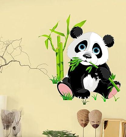 Buy Happy Walls \'Cute Little Animal Panda\' Wall Decor Wall Stickers ...