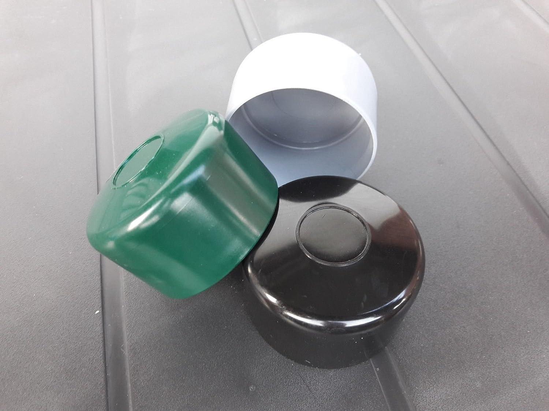OuM Lot de 10/Poteau Cl/ôture Capuchon rond 38/mm 40/mm 42/mm 42,4/mm 44,5/mm 48,3/mm 51/mm 60,3/mm 76/mm /Ø38mm Noir