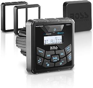 BOSS Audio Systems MGR450B Marine Gauge Receiver - Bluetooth, Digital Media MP3 Player, No CD Player, USB Port, AM/FM Radio, NOAA Weather Band Tuner, Weatherproof