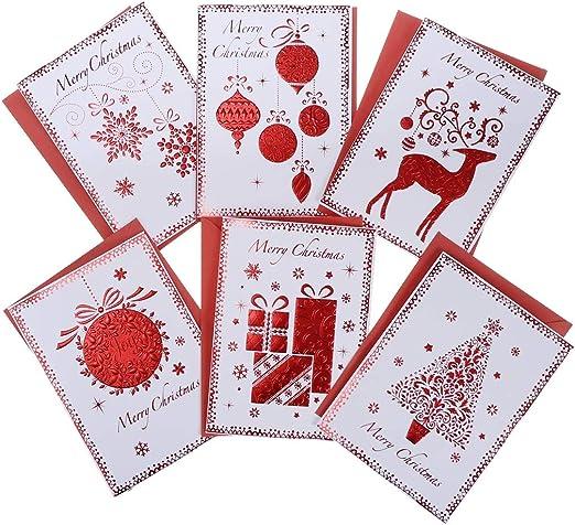 Tarjetas En Caja para Las Fiestas Navideñas De 6 Piezas - Tarjetas ...