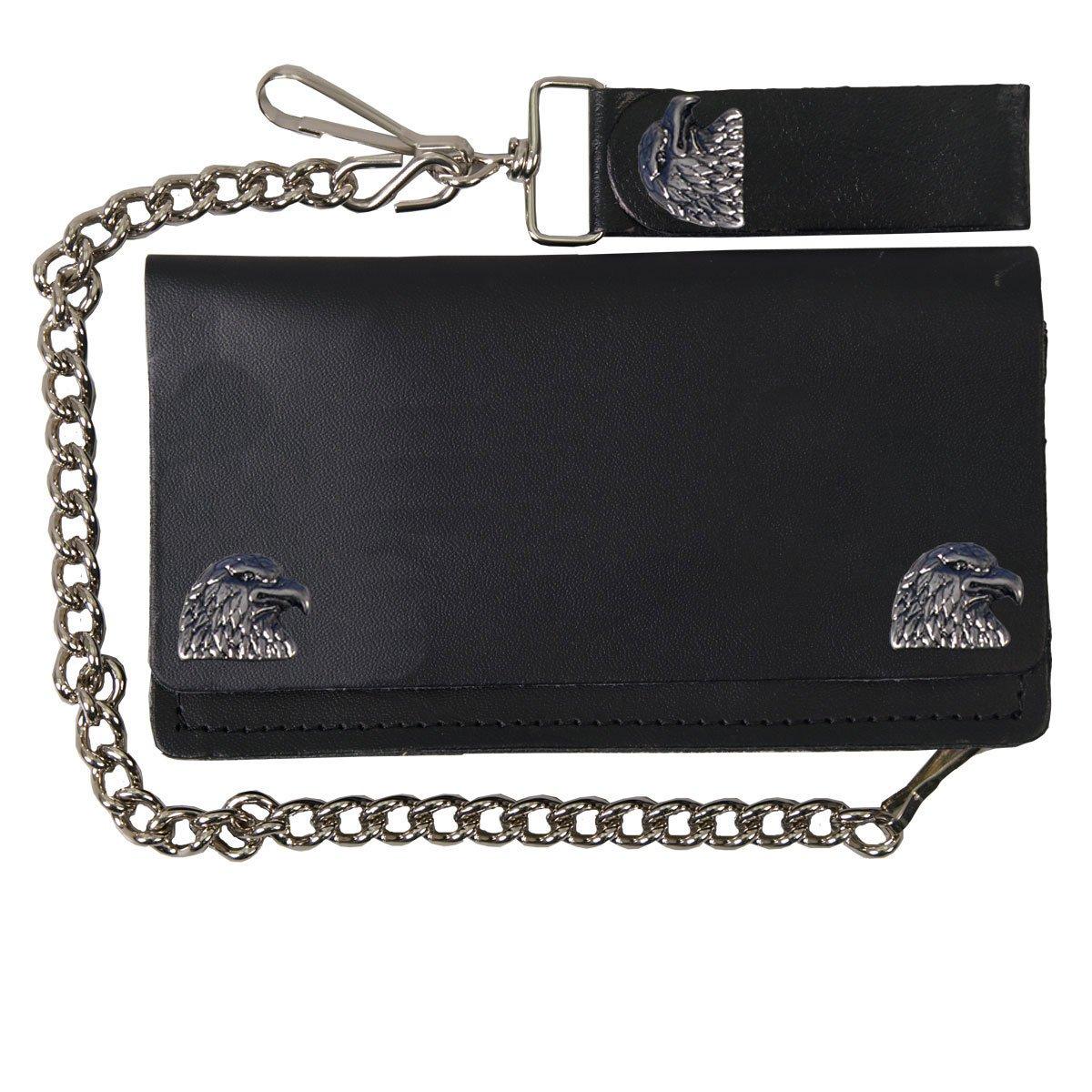 Eagle Leather Wallet WLA2007 BLACK, 6 Hot Leathers
