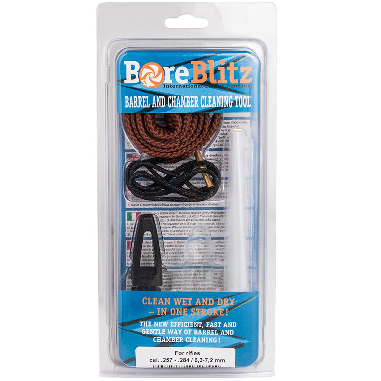 BoreBlitz Bore Cleaner Gun Snake Brushless for Rifle with Handle Caliber 7mm 6.5mm .257 by BoreBlitz