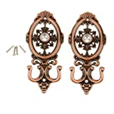HUAJI 1 pair Vintage Oval Curtain Hanger Mounted