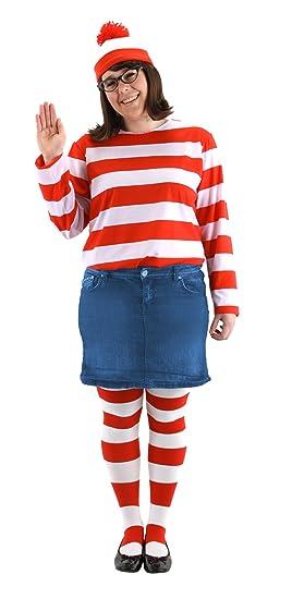 Amazoncom Elope Wheres Waldo Adult Plus Size Wenda Costume Kit