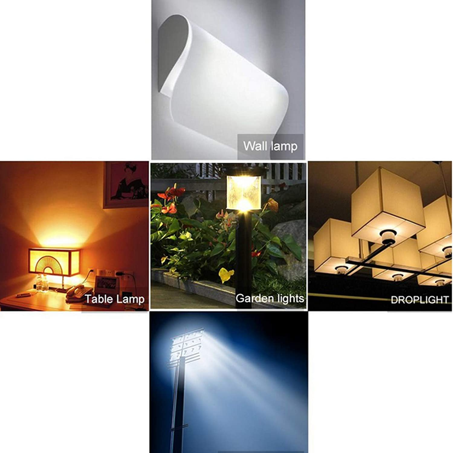 Cool White 6500K Low-Consumption Bulb AC 110-220V 1000Lm 10W 76 2835 SMD Flood Light SYNL 6X R7S Dimmable Corn LED Bulb Equivalent to 100W Halogen Bulb