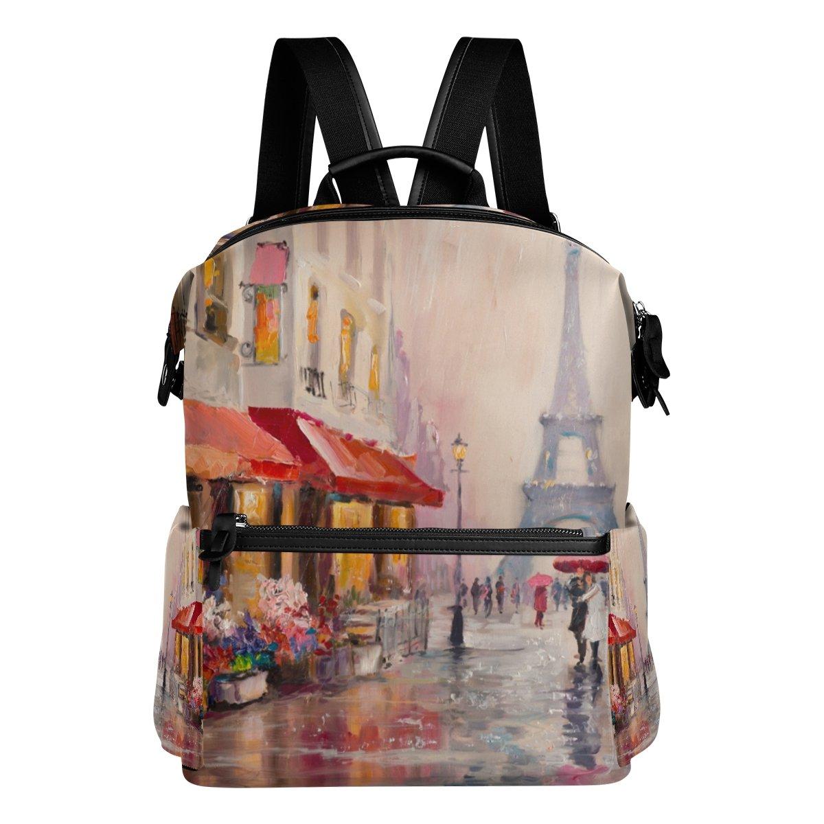 COOSUN la Pintura al óleo de la COOSUN Escuela de París Eiffel Torre Mochila mochila de viaje Multi cef2a0