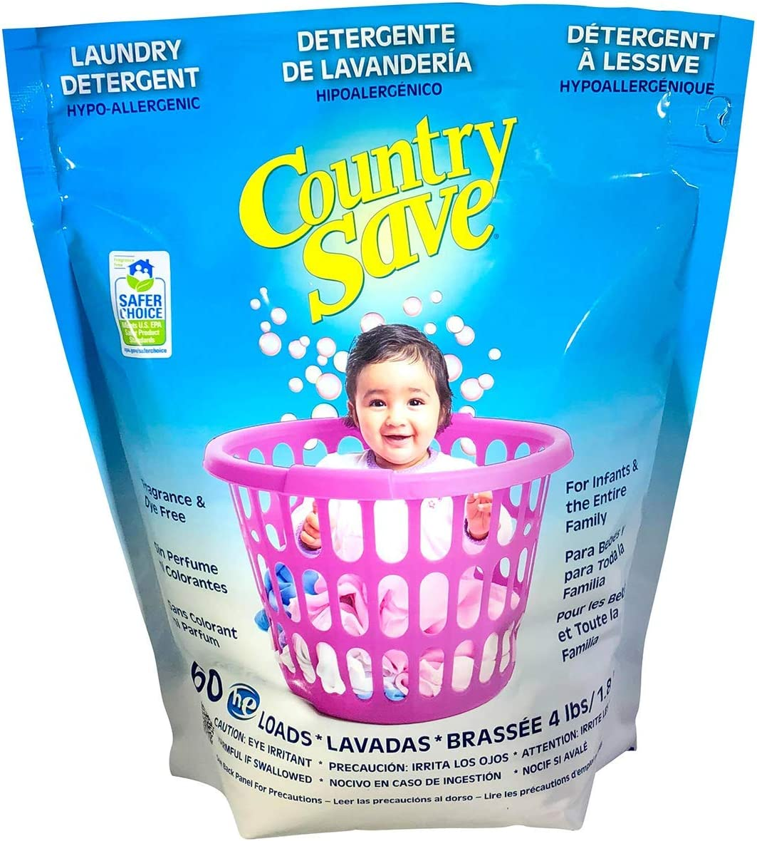 Country Save Baby Powdered Detergent, 60 Loads, for The Entire Family