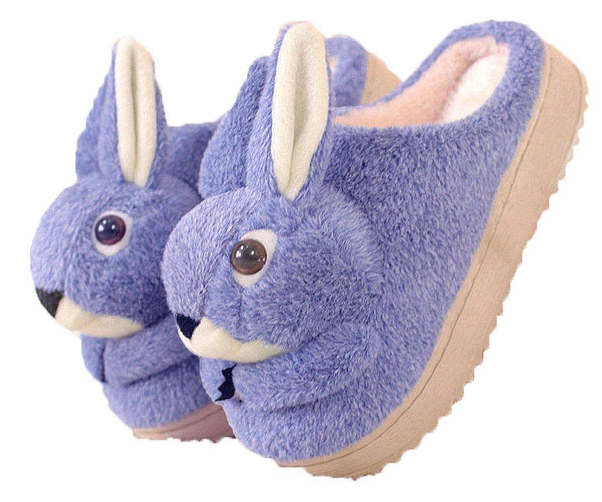 CNDragon Cute Cartoon Chirstmas Blue Rabbit Slipper Indoor Household Nonslip Couples Fashion Popular