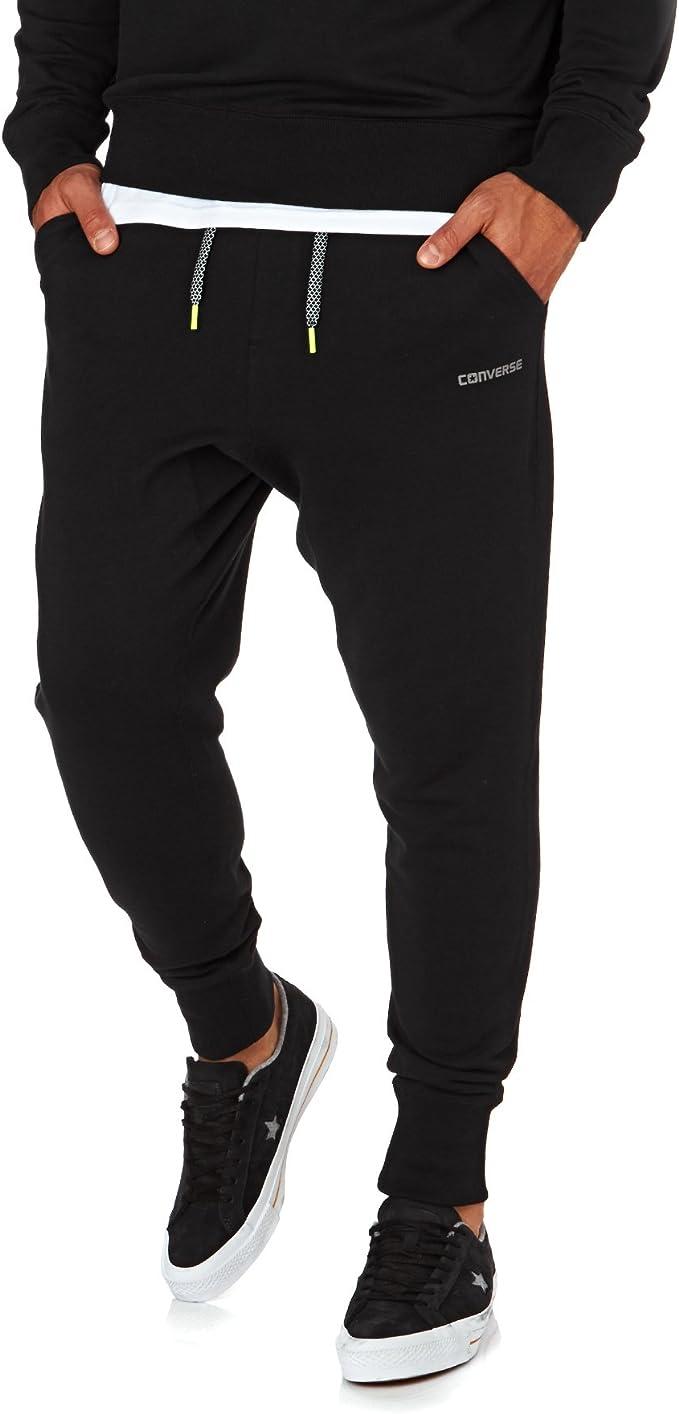 Converse - Pantalón - para Hombre Negro Negro XS: Amazon.es ...