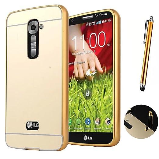 7 opinioni per LG G2 Cover, LXHGrowH Custodia a Specchio per LG G2 D802 Smartphone Alluminio