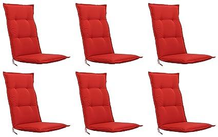 6 x Kettler Gartenmöbel Auflagen für Hochlehner Sessel Stuhl Kissen Stuhlkissen