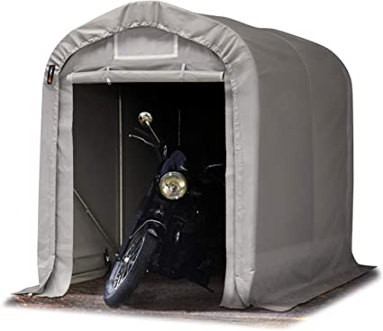 550 g//m/² e Stabile Costruzione in Acciaio Verde TOOLPORT Tenda Garage 1,6 x 2,4m Tenda per Il Bestiame Tenda Capannone in PVC ca