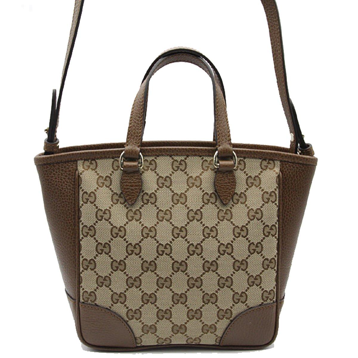 2821820e5f2 Gucci Bree Small GG Canvas Tote Bag Nocciola Brown New Bag  Amazon.ca   Shoes   Handbags