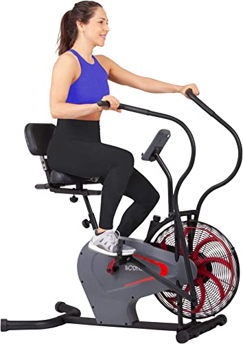 Body Rider Stationary Upright Air Resistance Fan Bike