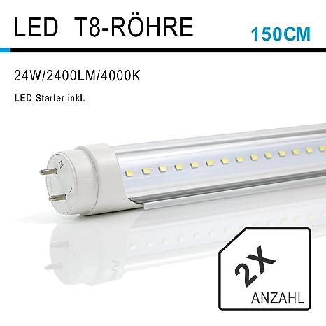 2x Vkele Tubos fluorescentes LED 150cm Luz diurna Neutral ...