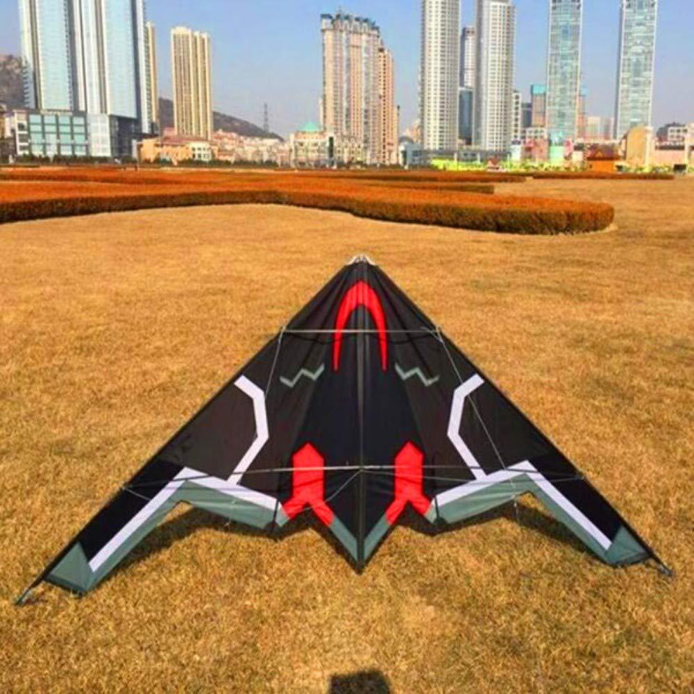 YPKHHH Haute qualité 2.4m Avion Double Ligne Cascadeur de cerf-Volant pilotable avec poignée Cerfs-Volants à Vendre des Lignes de cerf-Volant de Puissance de Parachute Taille: 240cm