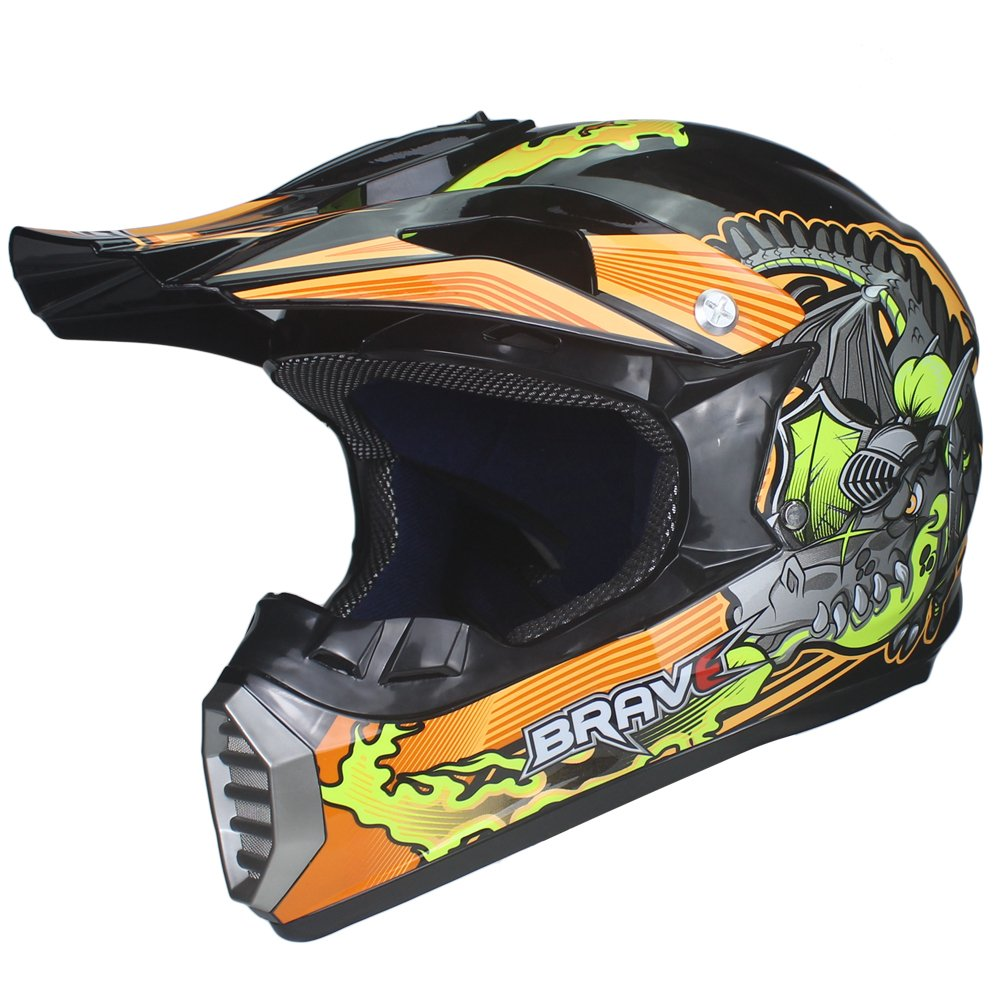 Amazon.com: VIRTUE Motocross ATV Casco Motocicleta Casque Para Moto Casco Off Road Dirt Bike (Medium): Automotive