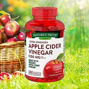 Evaxo Apple Cider Vinegar 1200 mg, 180 Capsules Gluten, Dairy and Preservative Free Non-GMO and Vegetarian.#B
