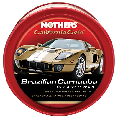 Mothers 05500-6 California Gold Brazilian Carnauba Cleaner Wax Paste - 12 oz, (Pack of 6): Automotive