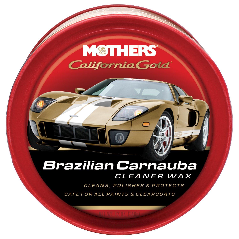Mothers 05500-6 California Gold Brazilian Carnauba Cleaner Wax Paste - 12 oz, (Pack of 6)