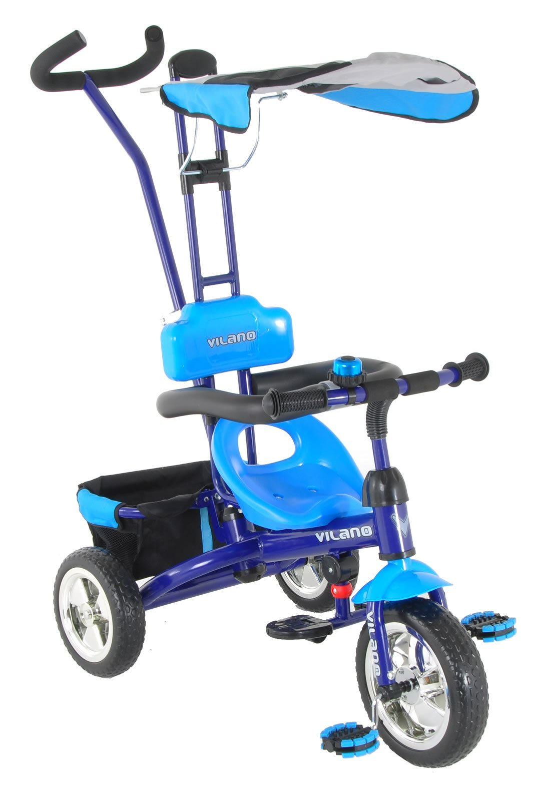 Vilano 3 in 1 Tricycle & Learn to Ride Trike, Blue