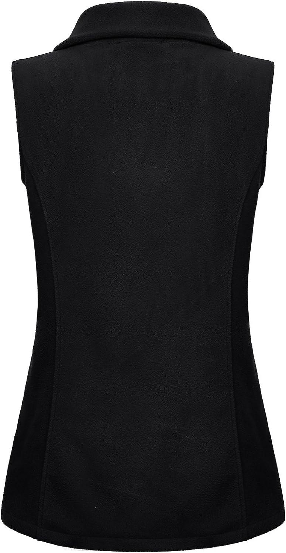 SeSe Code Women\'s Casual Zip Up Front Lightweight Fleece Vest with Pockets 71dOIDktLAL