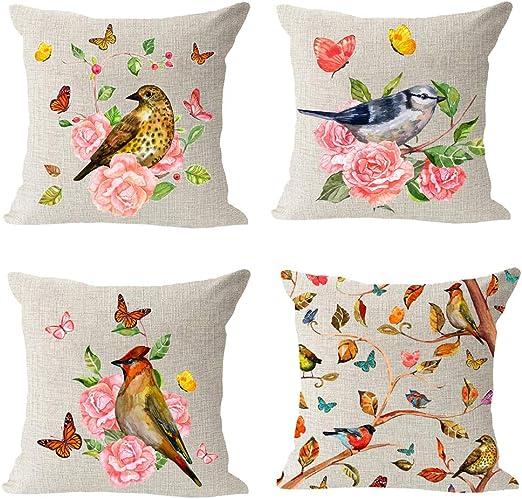 """Home Decor Cushion Cover 18/""""Animal Throw Pillow Case Sofa  Gift Cotton Linen"""