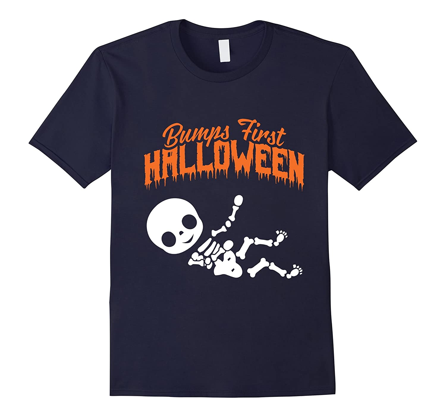 Baby Bump Pregnant Halloween T-Shirts. Bumps First Halloween-CL