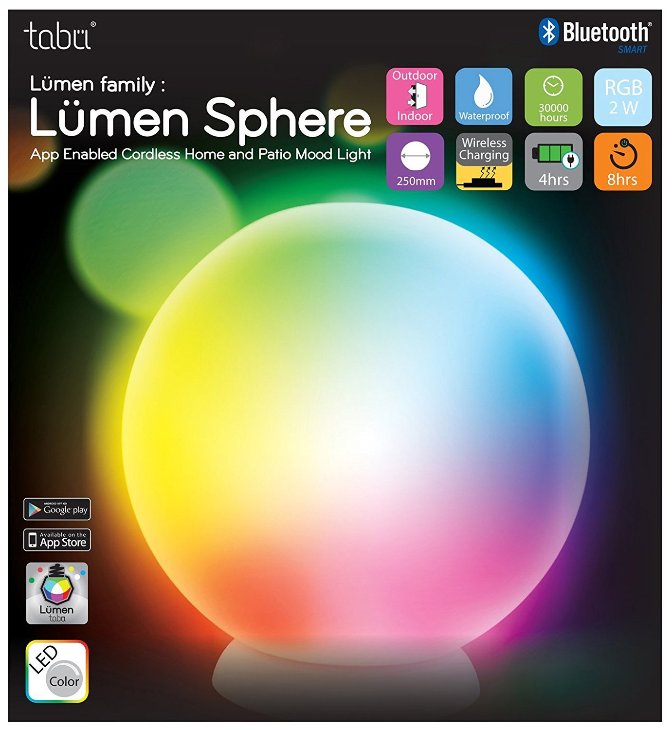 Tabu Lumen TL 700 Sphere Cordless Home and Patio Mood Light by Tabu Lumen