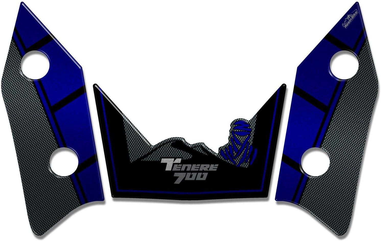 Adh/ésifs 3D Protections Lat/éral 05 Compatible avec Yamaha Tenere 700 2019 Jaune