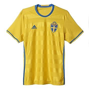 Camiseta Adidas Home Jersey del equipo de Suecia - AI4748, Medium, Amarillo
