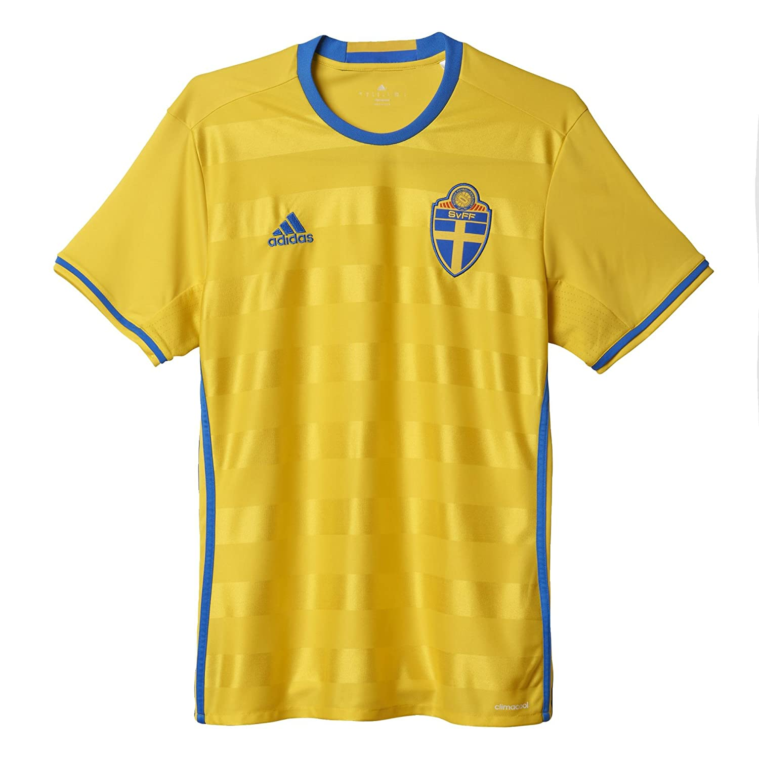 ab824f344 Amazon.com  adidas Sweden Home Jersey 2016 2017  Sports   Outdoors