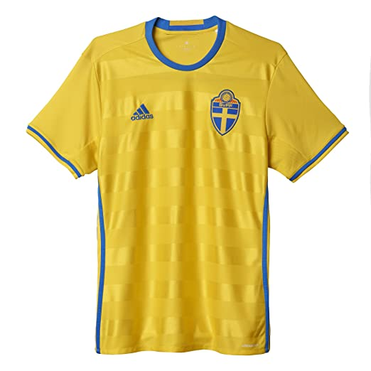 80febe9d2d9 Adidas Men's Sweden Home Soccer Jersey Climacool 2016 (XXX-Large) Yellow