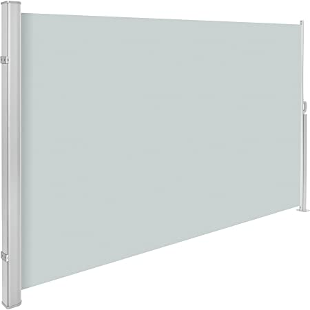 TecTake Seitenmarkise Sonnenschutz Sichtschutz Windschutz | Gehäuse und Standpfosten komplett aus Aluminium | - Diverse Farbe