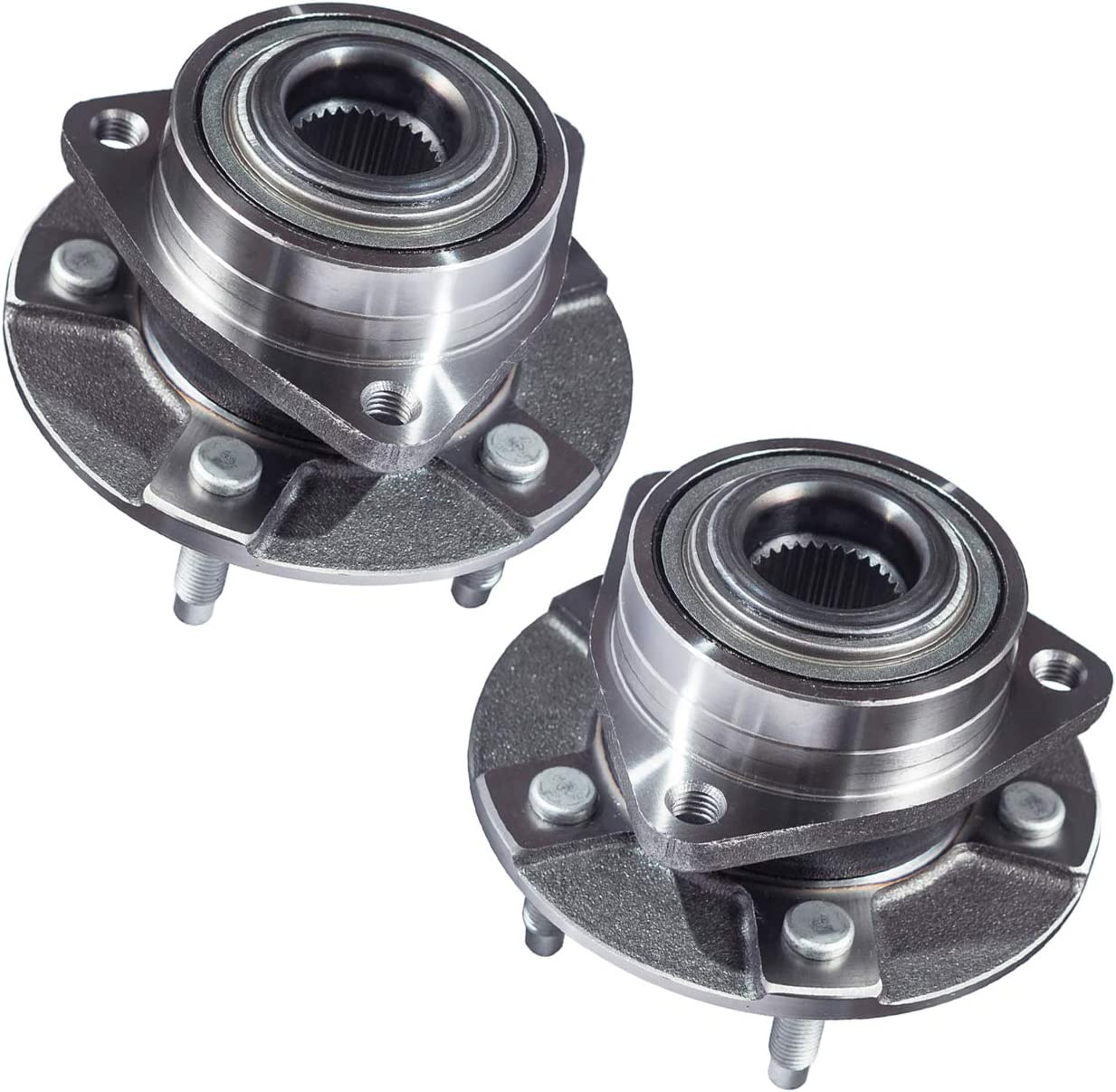 Front Wheel Bearing and Hub Assembly TUCAREST 5 Stud Hub 2Pcs 513190 Compatible With 2005 Chevrolet Equinox 06 Pontiac Torrent 02-07 Saturn Vue Pair Fits Vehicles With Non-ABS