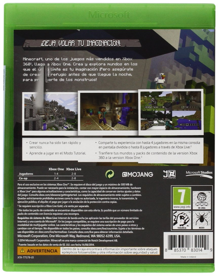 Minecraft Xbox One Amazon Es Videojuegos