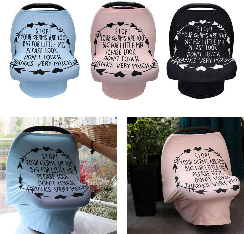 Petyoung Baby Nursing Covers Infant Stroller Cover No Touching Sign,Car Seat Cover Canopy Stretchy Breastfeeding Cover