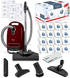 Miele Complete C3 SoftCarpet HEPA Canister Vacuum Cleaner with SEB228 SoftCarpet Powerhead Bundle - Includes Miele Performance Pack 16 Type GN AirClean Genuine FilterBags + Genuine AH50 HEPA Filter