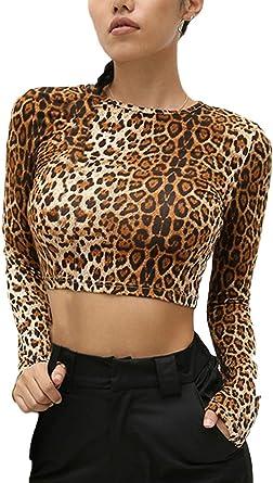 Mujer Camisetas Primavera Otoño Cortas Camisas Moda Retro ...