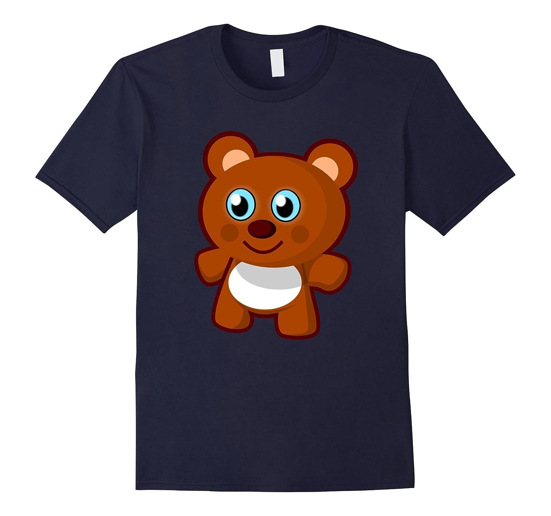 Cute Happy Funny Little Teddy Bear Emoji Shirt-Art